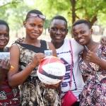 """Quatre ambassadrices du projet """"Girl Power"""" de Plan Belgique au Bénin."""